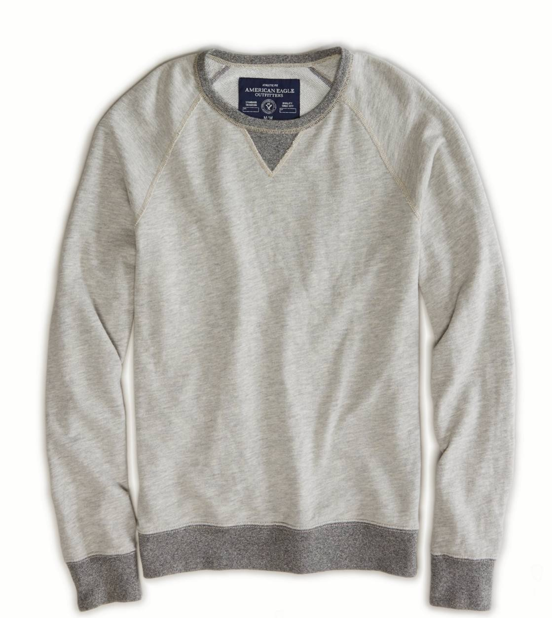 Heather Grey AE Crew Sweatshirt