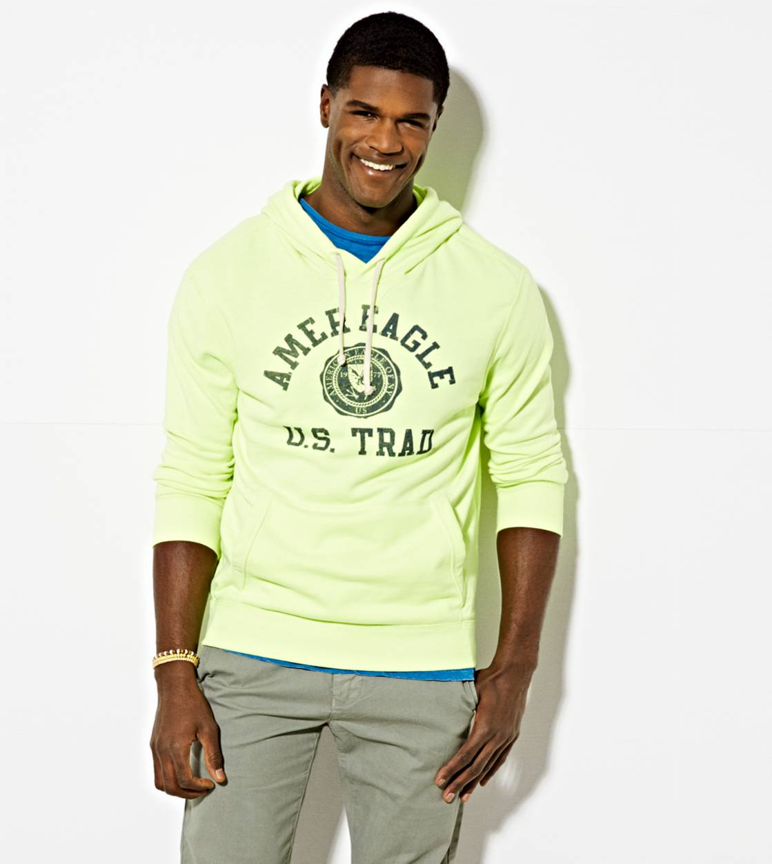 Neon Yellow AE Signature Hooded Pop Over