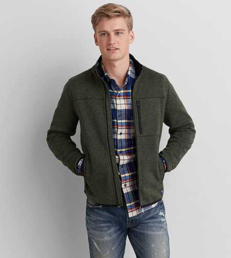 AEO Sweater Fleece Jacket