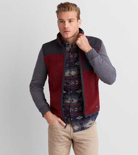 AEO Faux Sherpa & Fleece Jacket