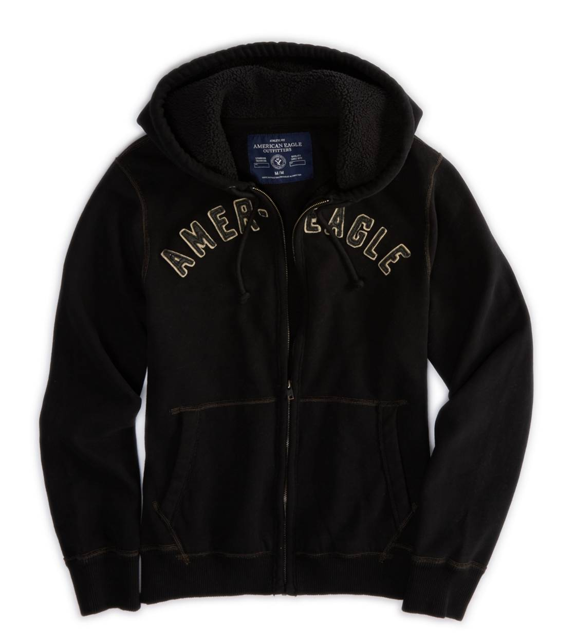 True Black AE Applique Hoodie