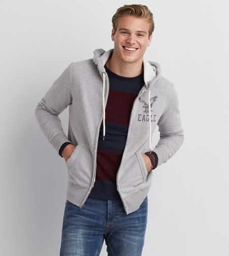 AEO Signature Zip-Up Hoodie