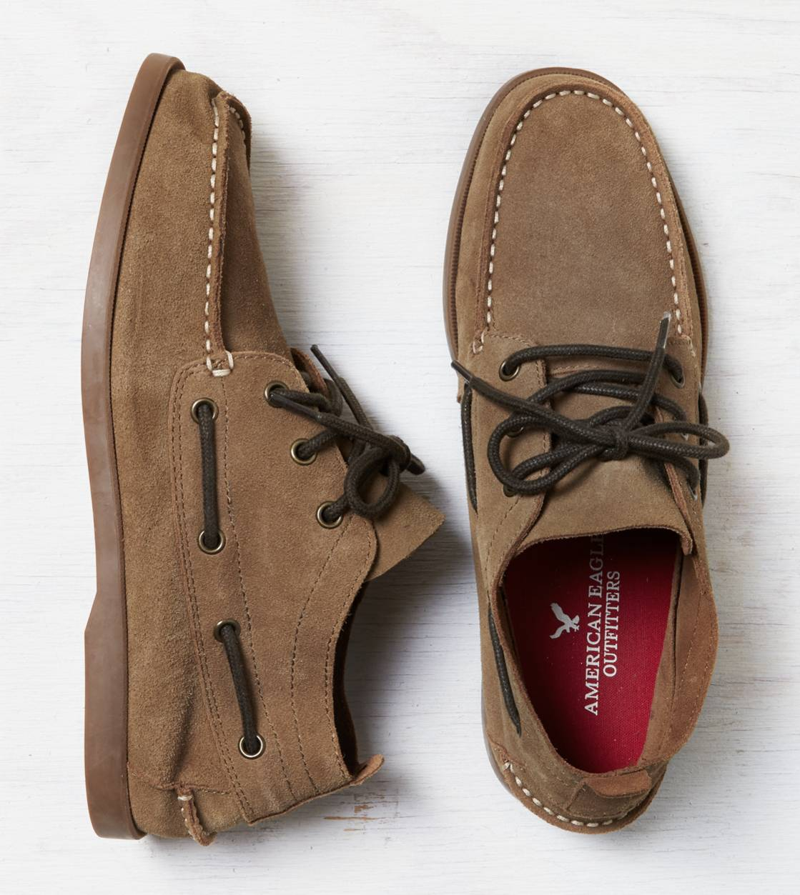 Light Brown AEO Suede Chukka Boat Shoe
