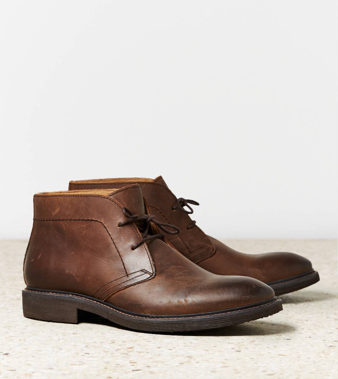Brown AEO Leather Chukka