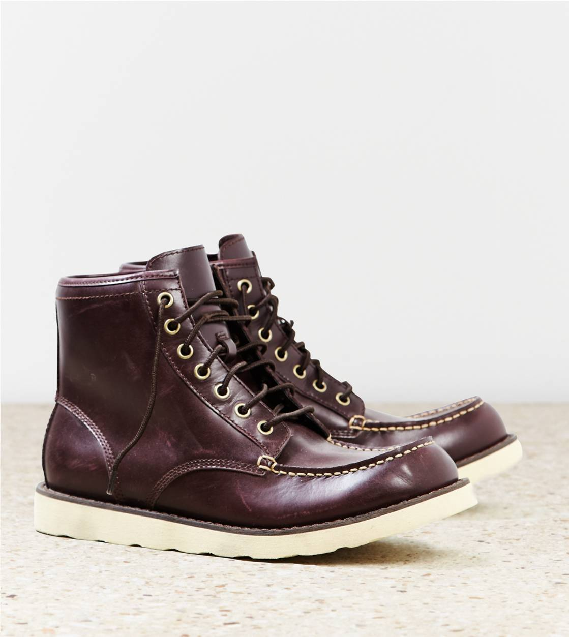 Ox Blood AEO Rugged Leather Boot