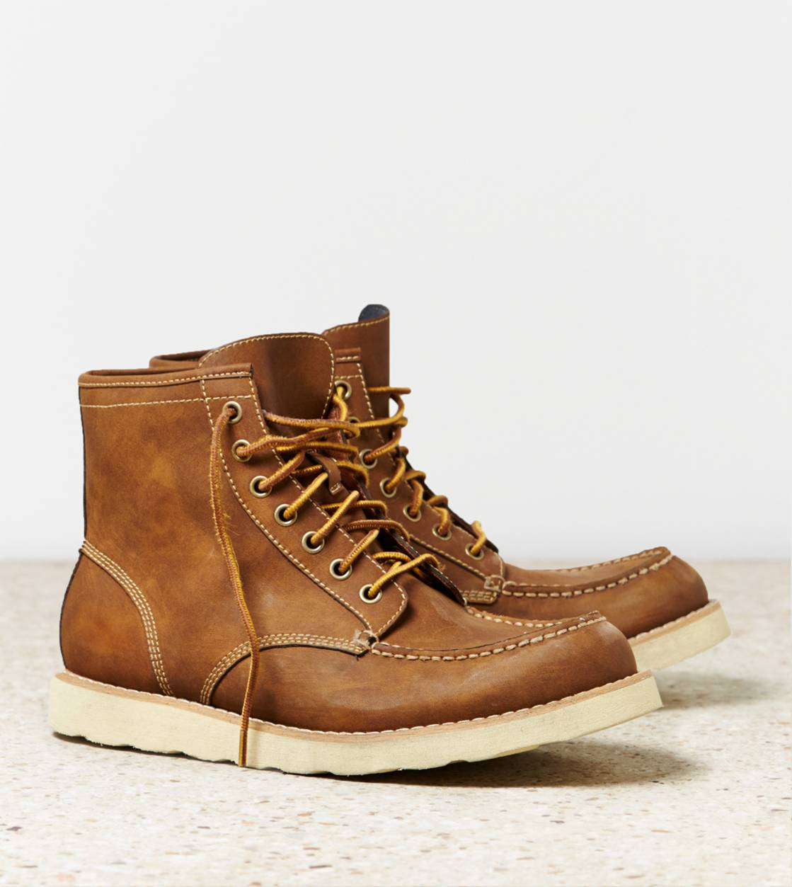 Tan AEO Rugged Leather Boot