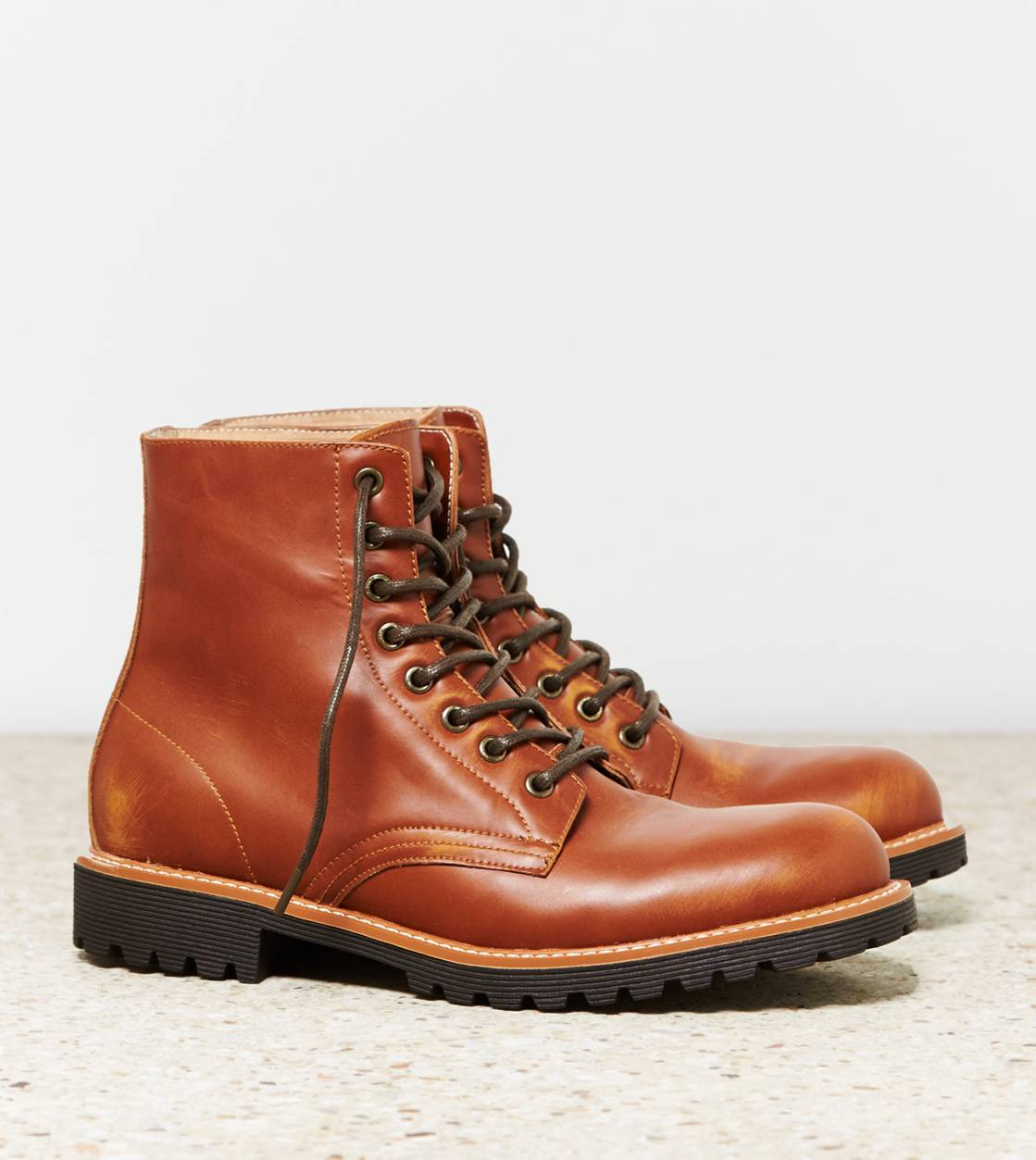 Tan AEO Rugged Lace-Up Boot