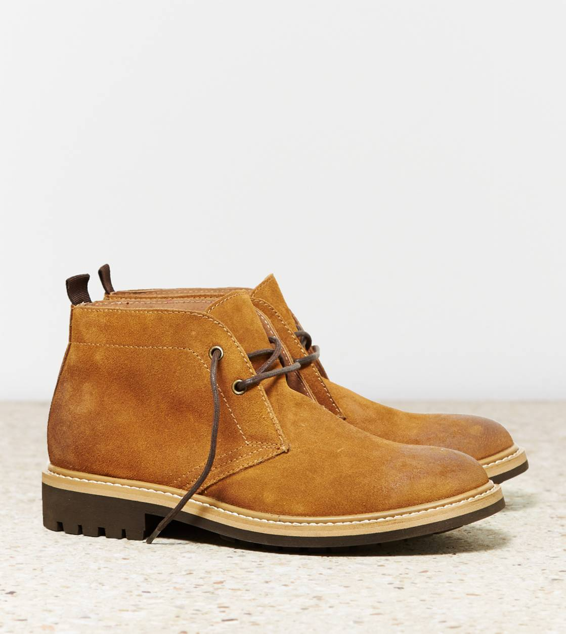 Light Brown AEO Suede Chukka Boot