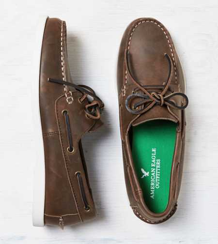 AEO Leather Boat Shoe - Free Shipping On Shoes