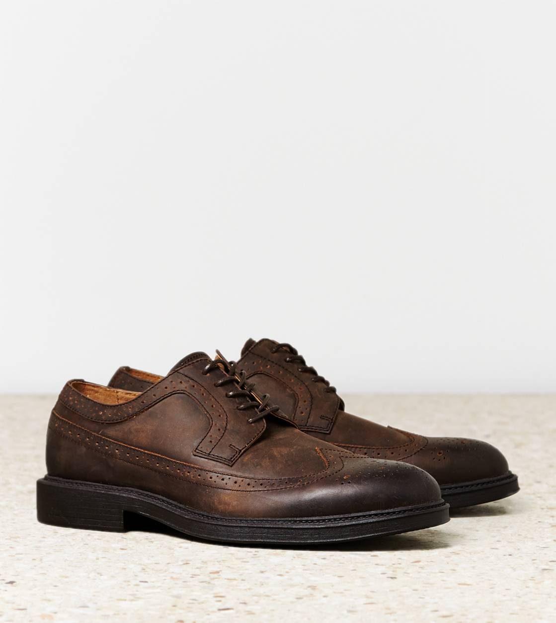 Dark Brown AEO Wingtip Shoe