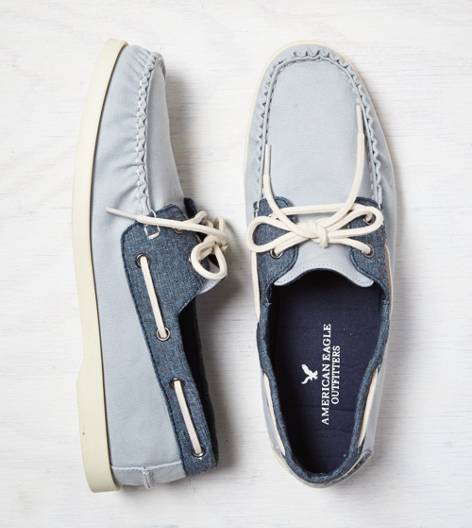 Grey AEO Canvas Boat Shoe