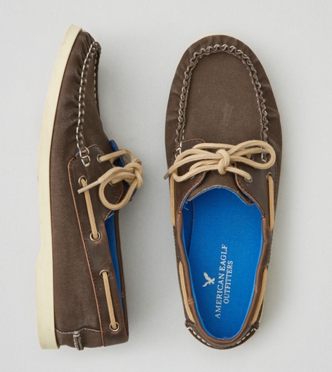 Brown AEO Canvas Boat Shoe