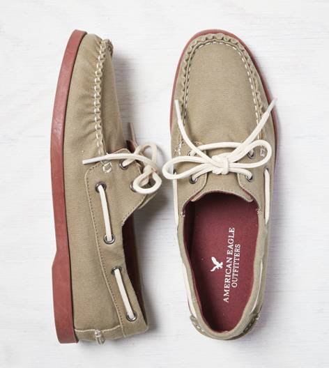 Rust AEO Canvas Boat Shoe