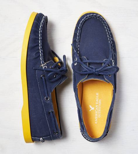Navy AEO Canvas Boat Shoe