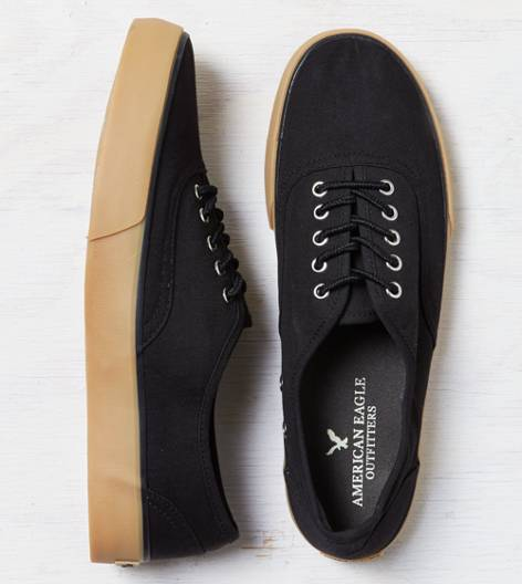 Black AEO Canvas Sneaker