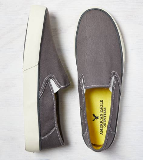 Grey AEO Canvas Slip-On Sneaker