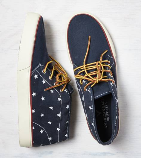 Navy AEO Canvas Chukka