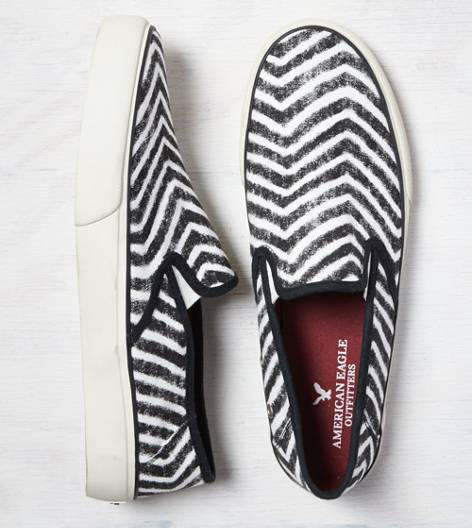 Black AEO Printed Slip-On Sneaker