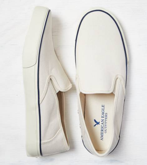 Natural AEO Canvas Slip-On Sneaker