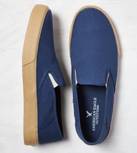 Indigo AEO Canvas Slip-On Sneaker