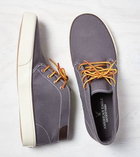 Grey AEO Canvas Chukka