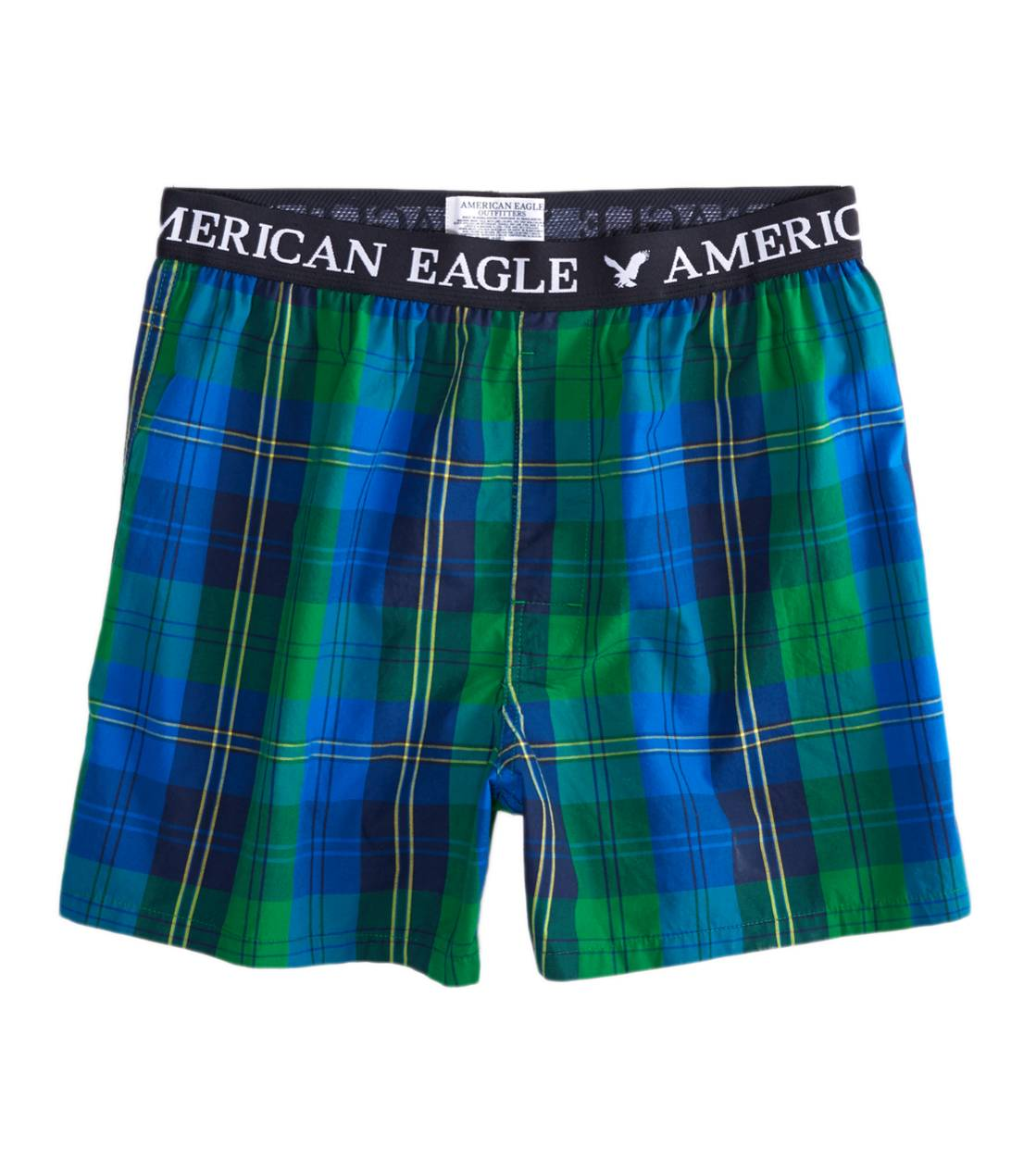 Green AE Plaid Boxer