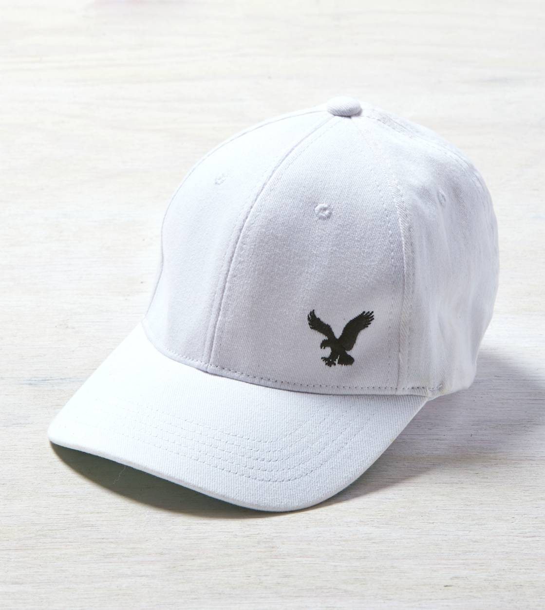 White  AE Eagle Fitted Baseball Cap