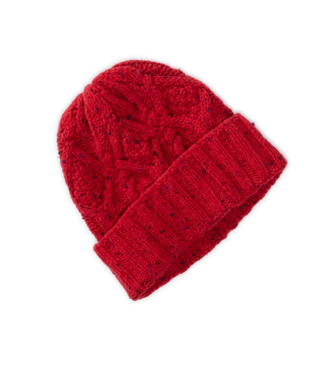 Red AEO Cabled Beanie