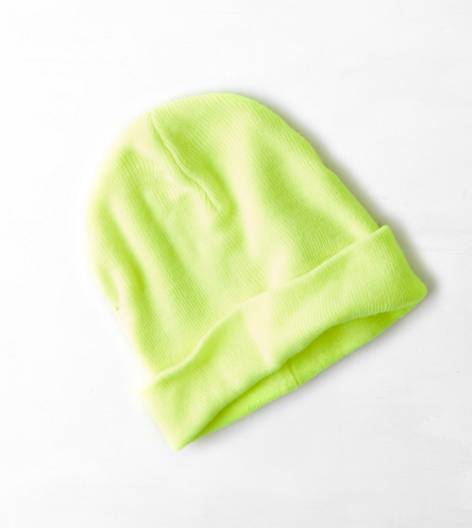 Neon Yellow AEO Knit Beanie