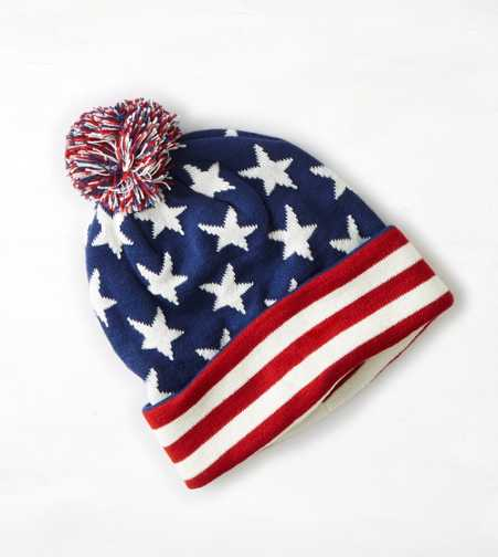 AEO Flag Pom Pom Beanie - Buy One Get One 50% Off