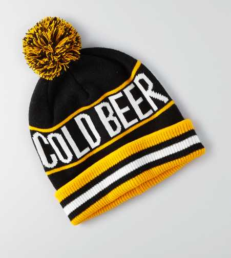 AEO Cold Beer Pom Beanie