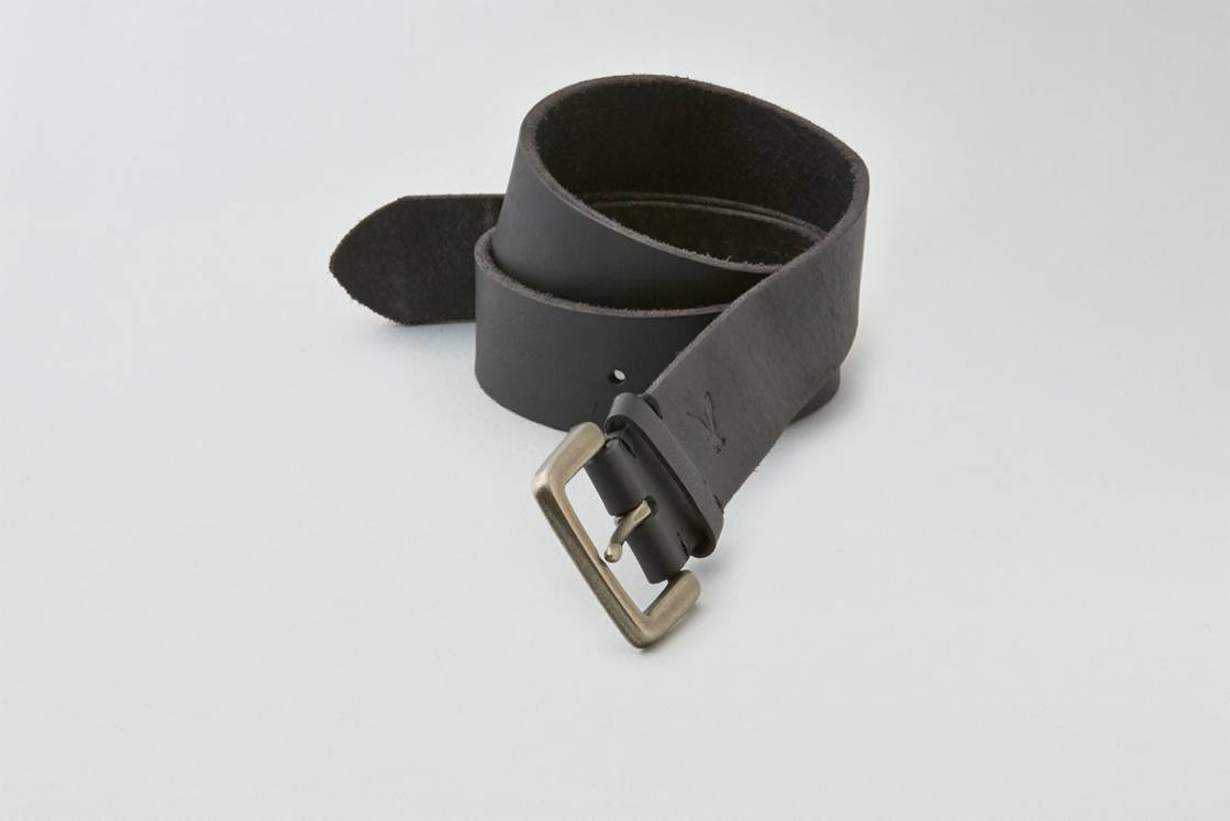 Black AEO Downtown Leather Belt