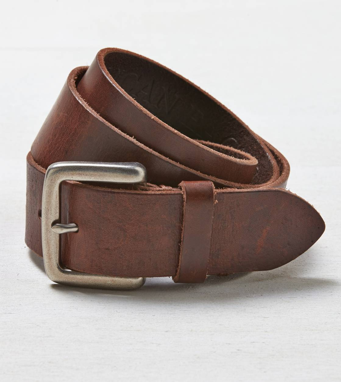 Brown AEO Downtown Leather Belt