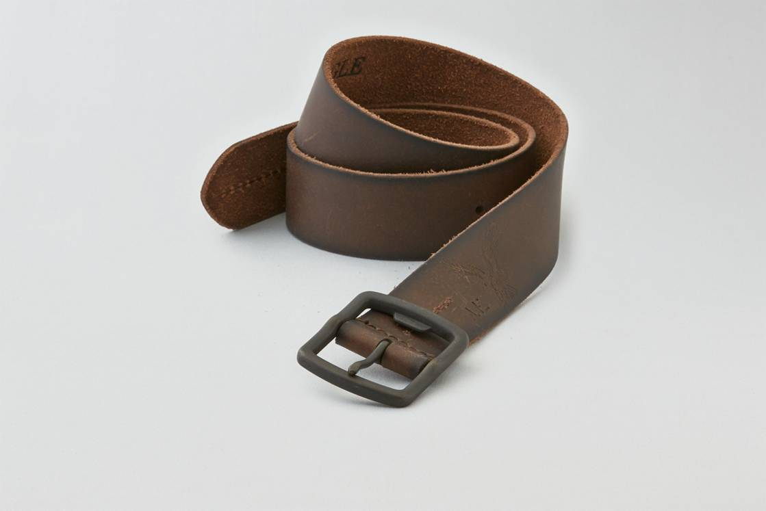 Dark Brown AEO Stitched Leather Belt