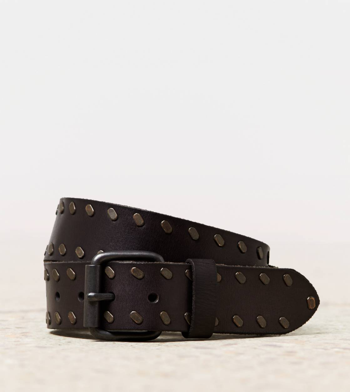 Brown AEO Studded Leather Belt