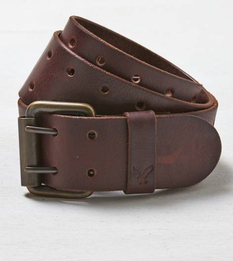 Dark Brown AEO Leather Belt