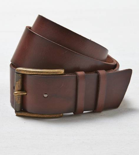 Brown AEO Wide Leather Belt