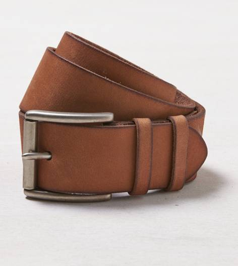 Tan AEO Wide Leather Belt