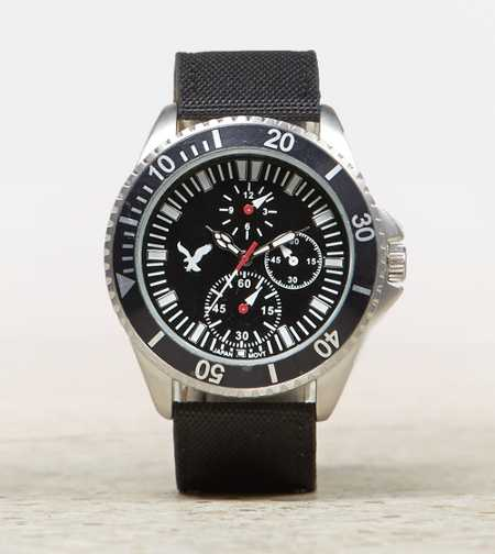 AEO Canvas Chronograph Watch
