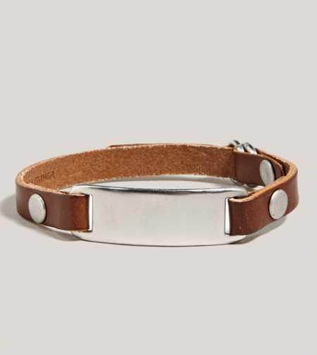 AEO Leather Plaque Bracelet