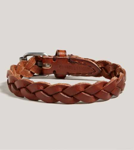 AEO Braided Leather Bracelet