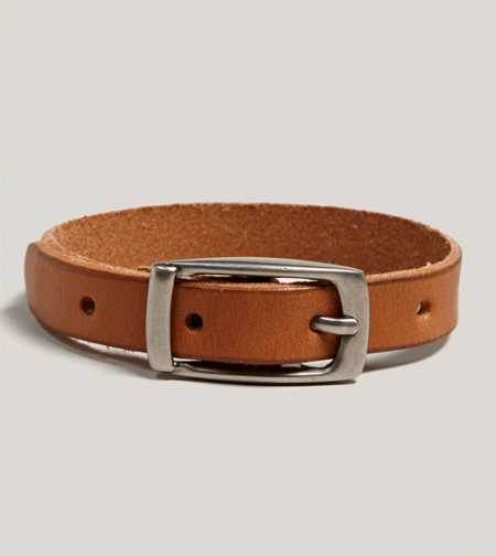 AEO Buckled Leather Bracelet