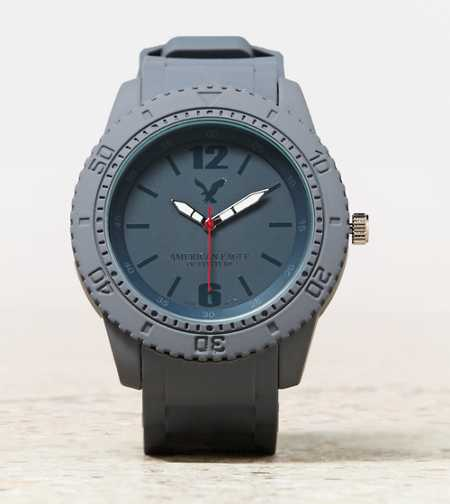 AEO Grey Rubber Watch
