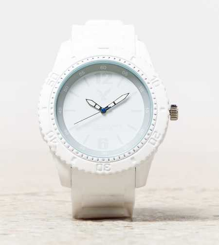 AEO White Rubber Watch