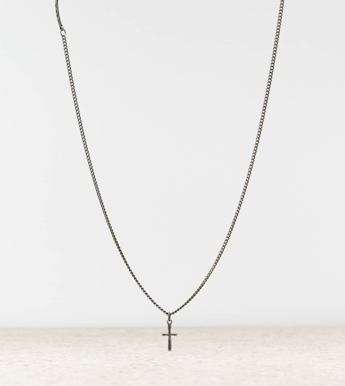 Silver AEO Cross Necklace