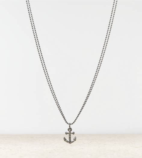 Silver AEO Anchor Necklace