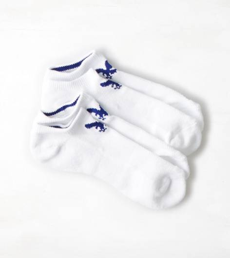 White  AEO Performance Low Cut Sock