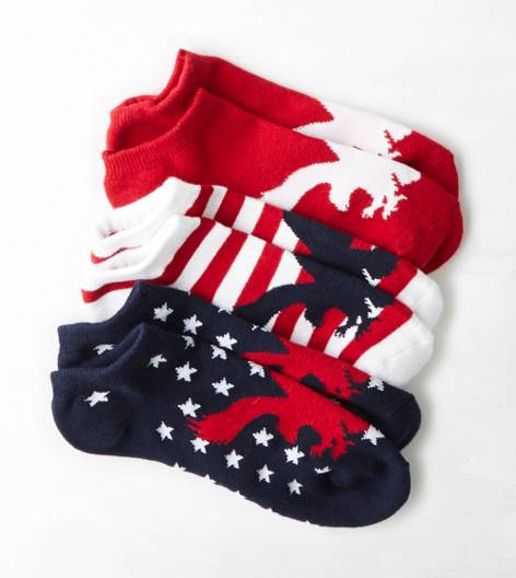 Red AEO Socks 3-Pack