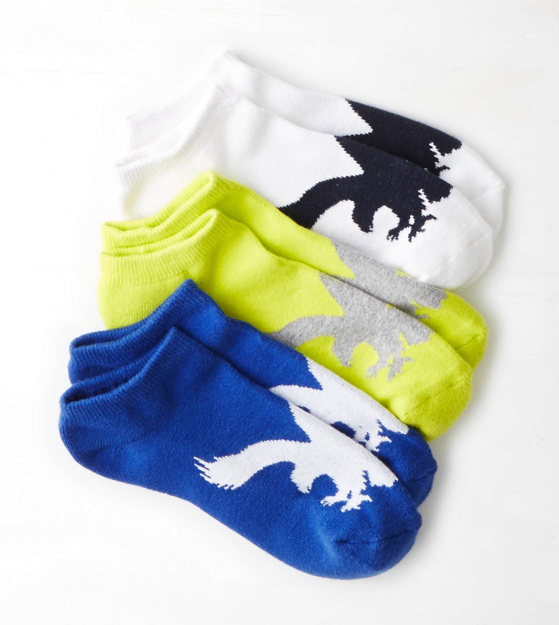 Neon Yellow AEO Socks 3-Pack