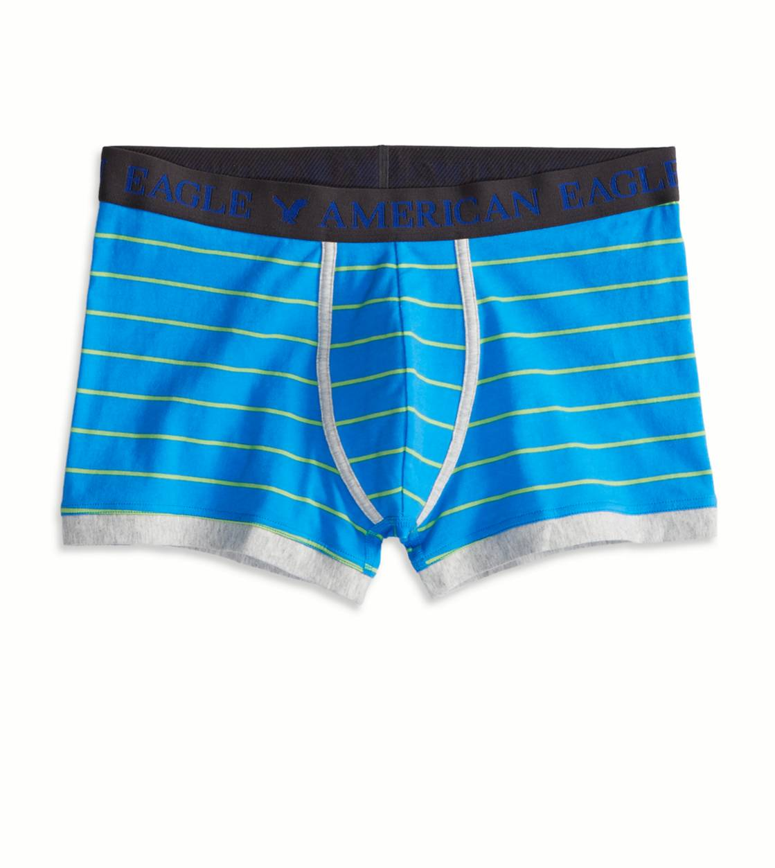 Blue AE Striped Low Rise Trunk